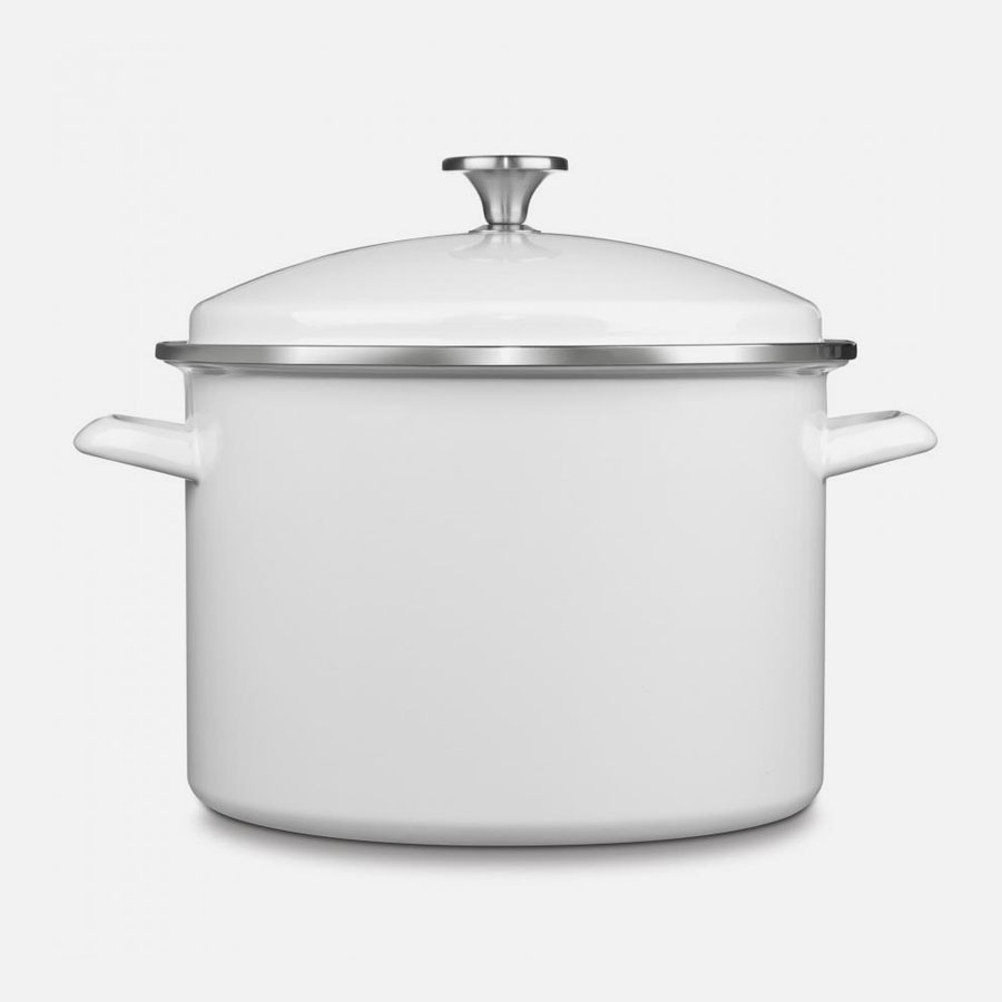 Chef Classic Enamel on Steel Cookware 10 Quart Stockpot with Cover
