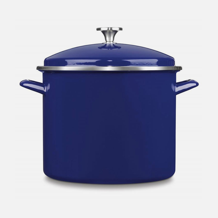 Chef Classic Enamel on Steel Cookware 12 Quart Stockpot with Cover