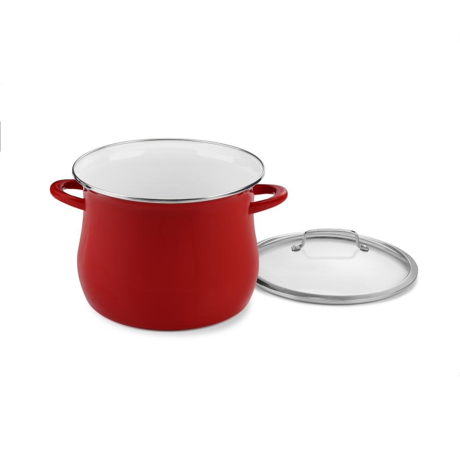 Contour Enamel on Steel 12 Quart Stockpot with Cover