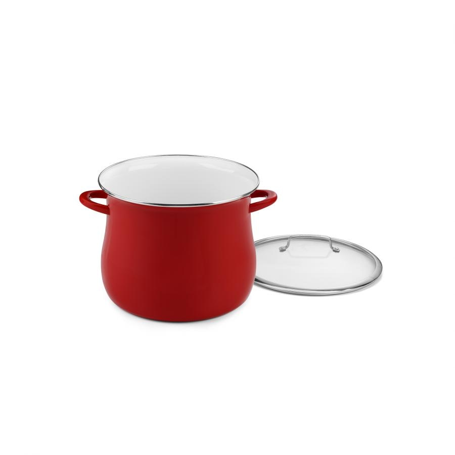 Contour Enamel on Steel 16 Quart Stockpot with Cover