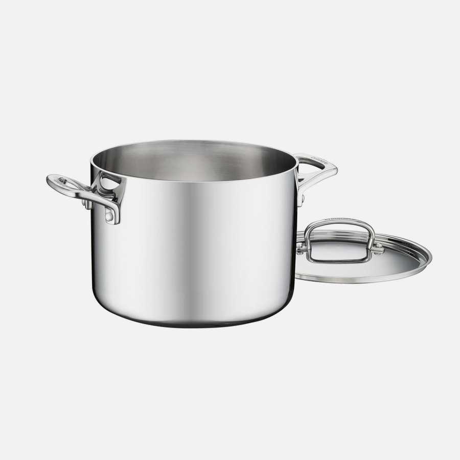 French Classic Tri-Ply Stainless Cookware 6 Quart Stockpot with Cover