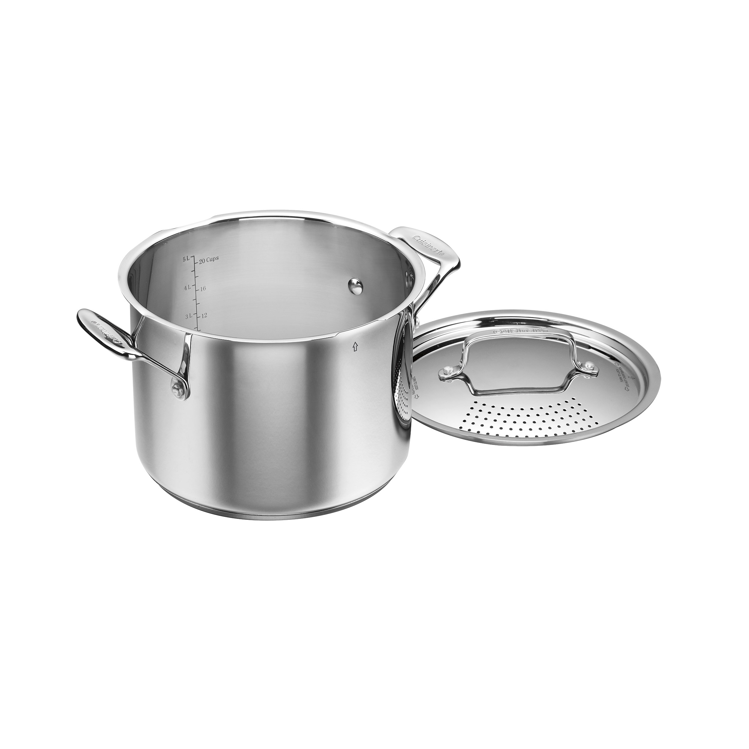 Chef's Classic™ Stainless 6 Quart Stockpot with Straining Cover