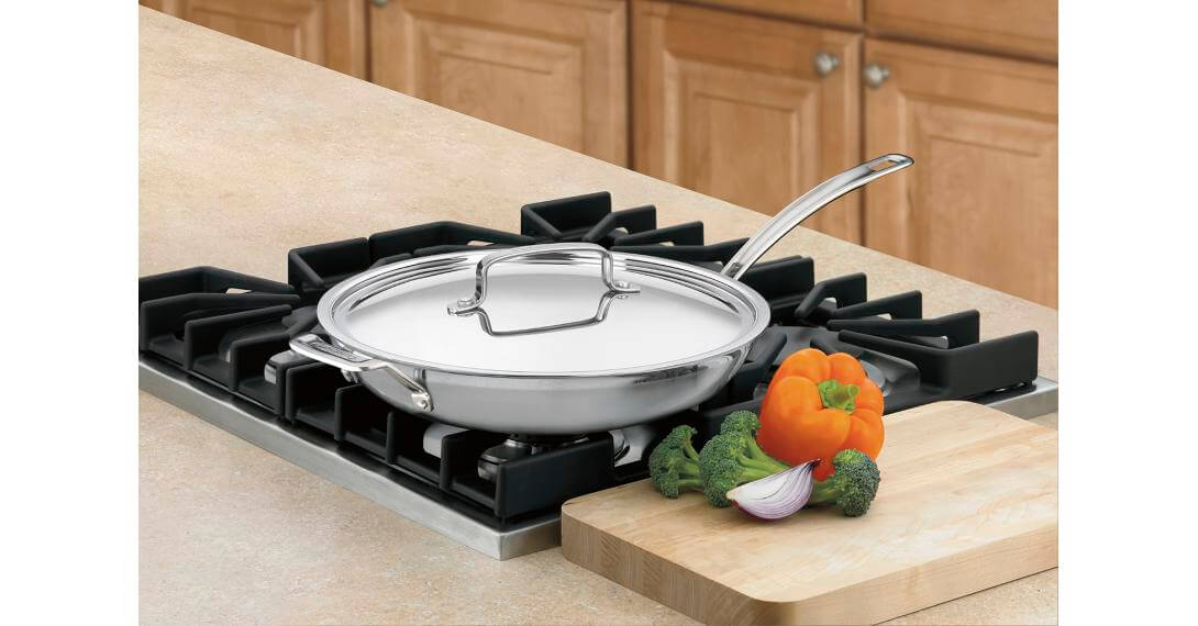 Cuisinart MultiClad Pro Stainless 10-Inch Open Skillet,Stainless Steel