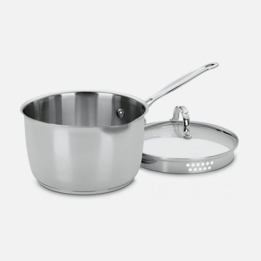 Chef's Classic™ Stainless 3 Quart Pour Saucepan