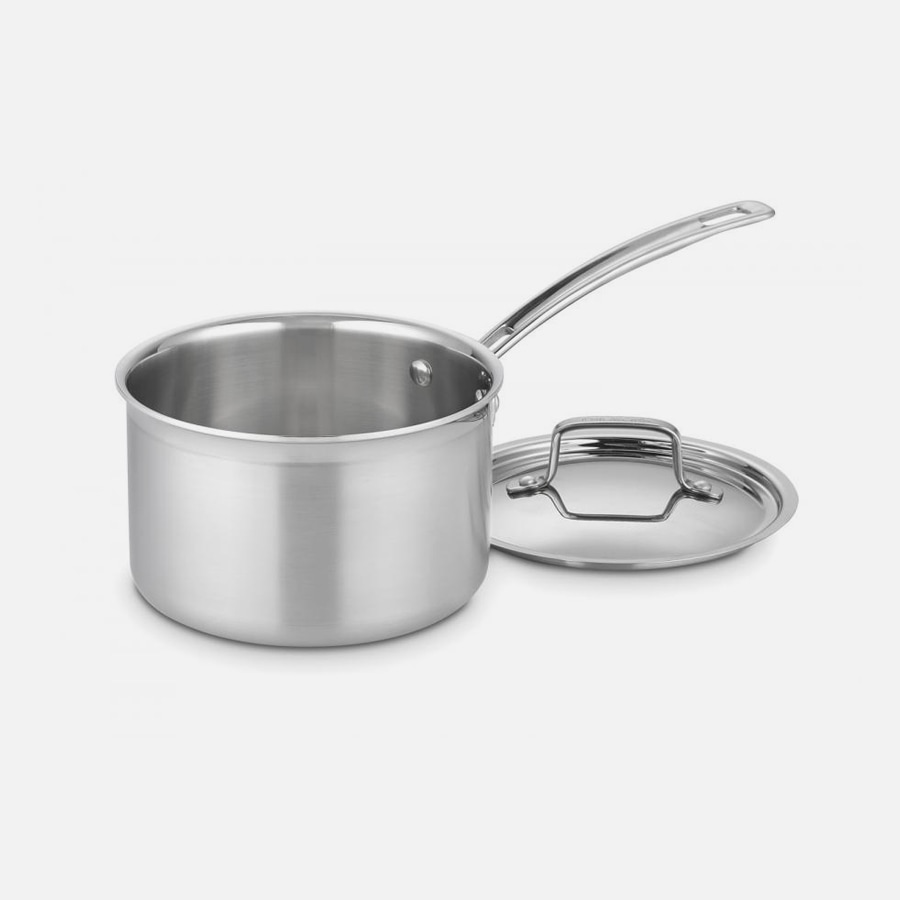 MultiClad Pro Triple Ply Stainless Cookware 3 Quart Saucepan