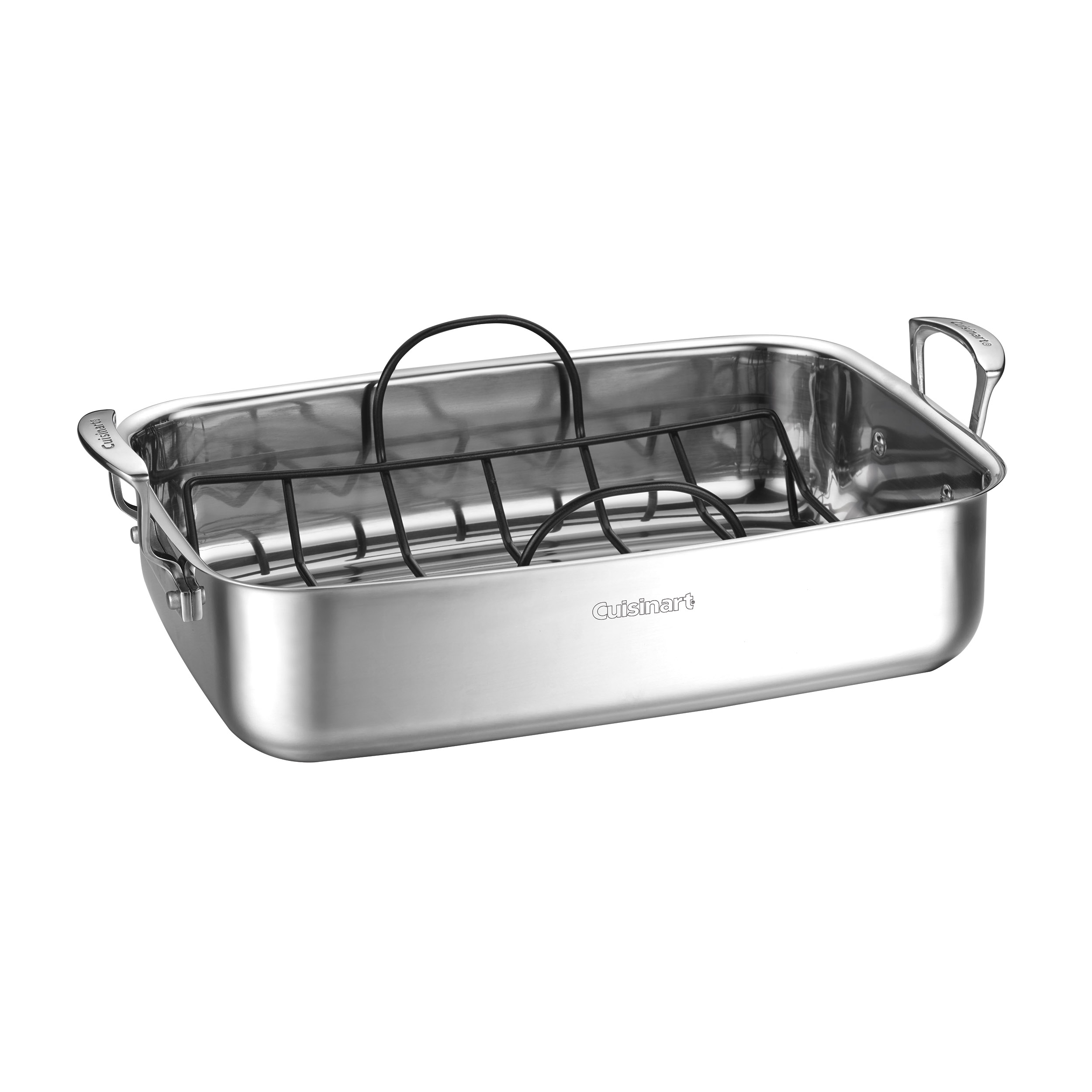 "15"" Stainless Steel Roaster with Non-Stick Rack"