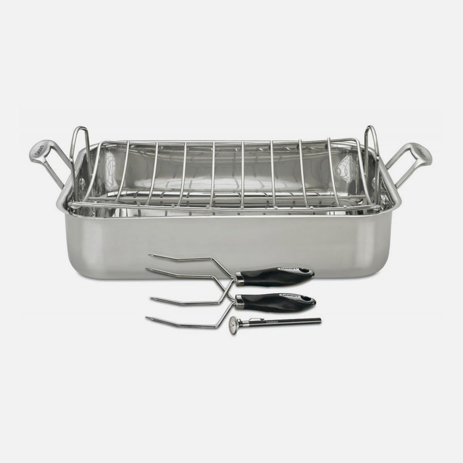 Chef's Classic™ Stainless 5 Piece Chef's Classic™ Stainless Roaster Set