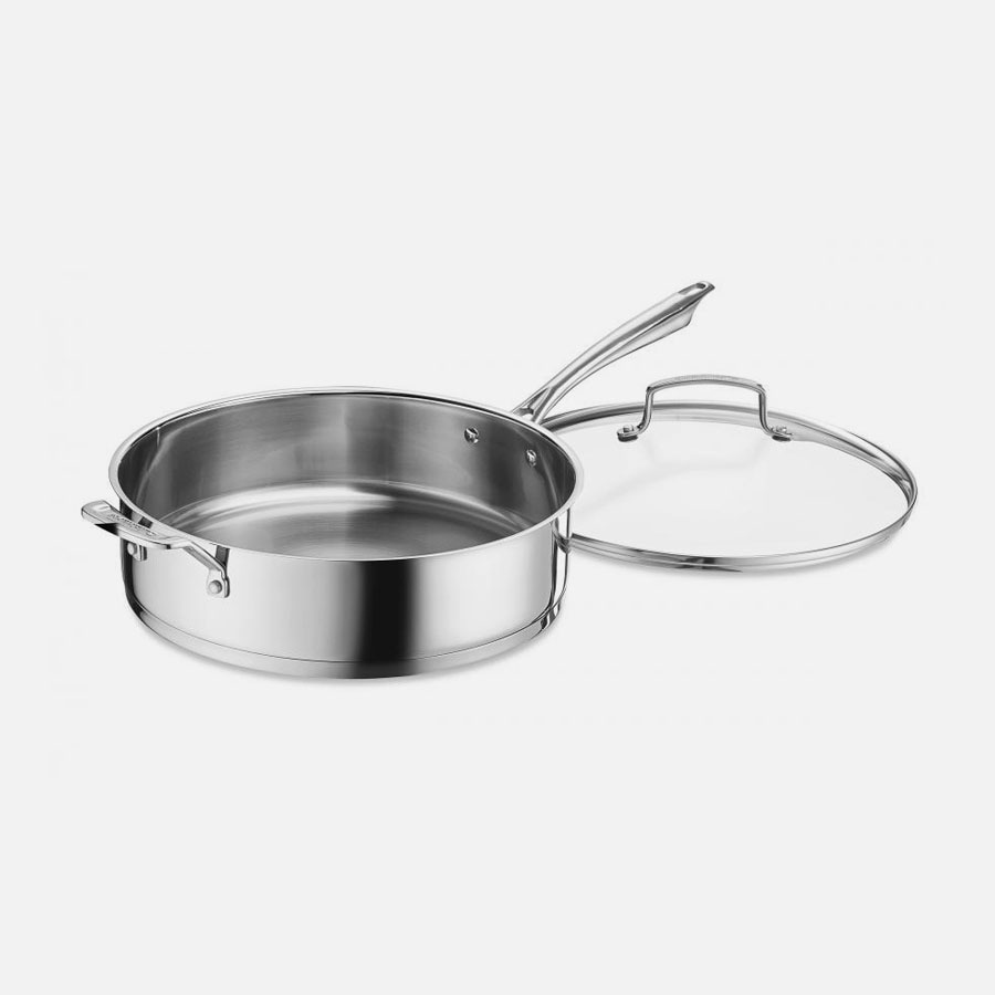Professional Series™ Cookware 6 Quart Sauté Pan with Helper Handle and Cover