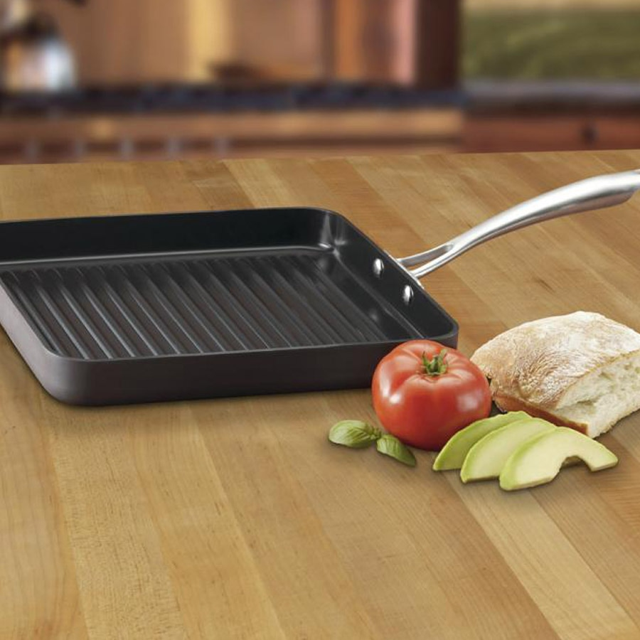 "GreenGourmet® Hard Anodized 11"" Grill Pan"