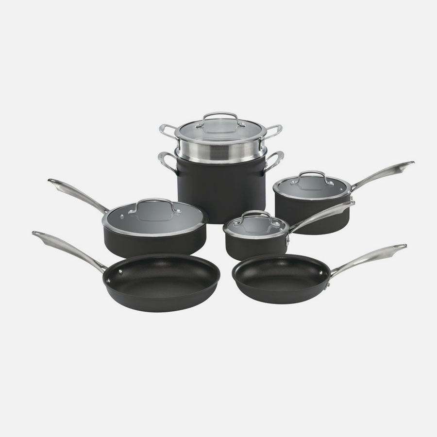 Dishwasher Safe Anodized Cookware 11 Piece Set