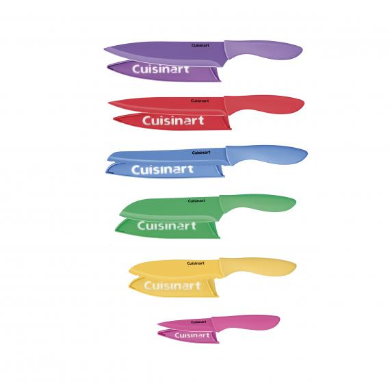 12 Piece Ceramic Coated Color Knife Set with Blade Guards