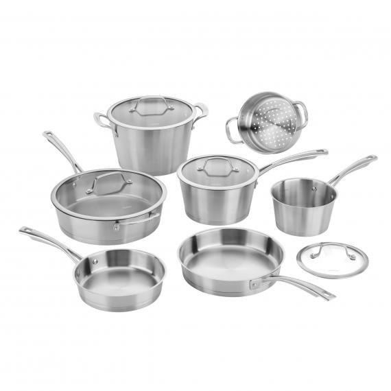 11 Piece Conical Stainless Induction Set