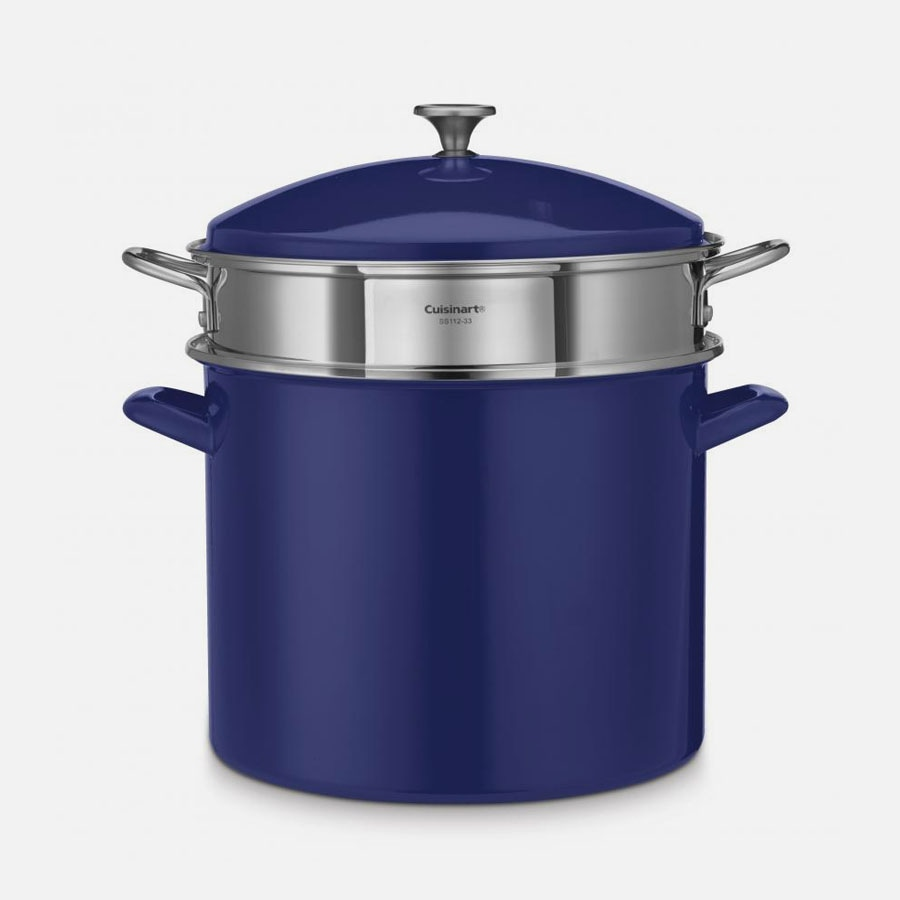 12 Quart Stockpot with Steamer Insert and Cover