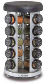 20 Jar Brushed Stainless Steel Spice Rack