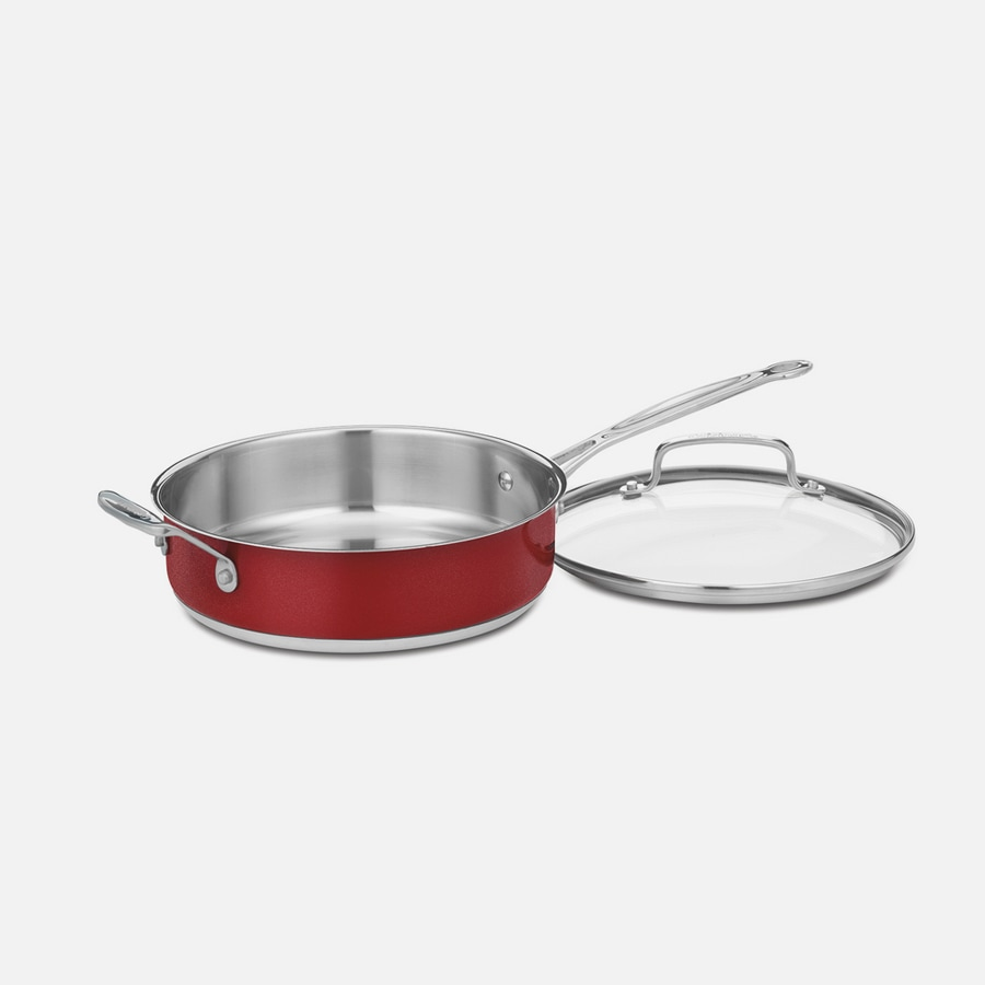 3 Quart Sauté Pan with Helper Handle and Cover