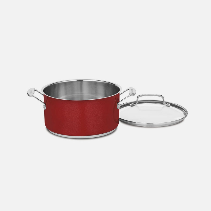 Chef's Classic™ Stainless Color Series 6 Quart Stockpot with Cover
