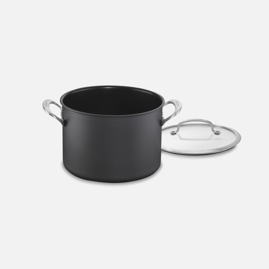 Dishwasher Safe Anodized Cookware 8 Quart Stockpot with Cover