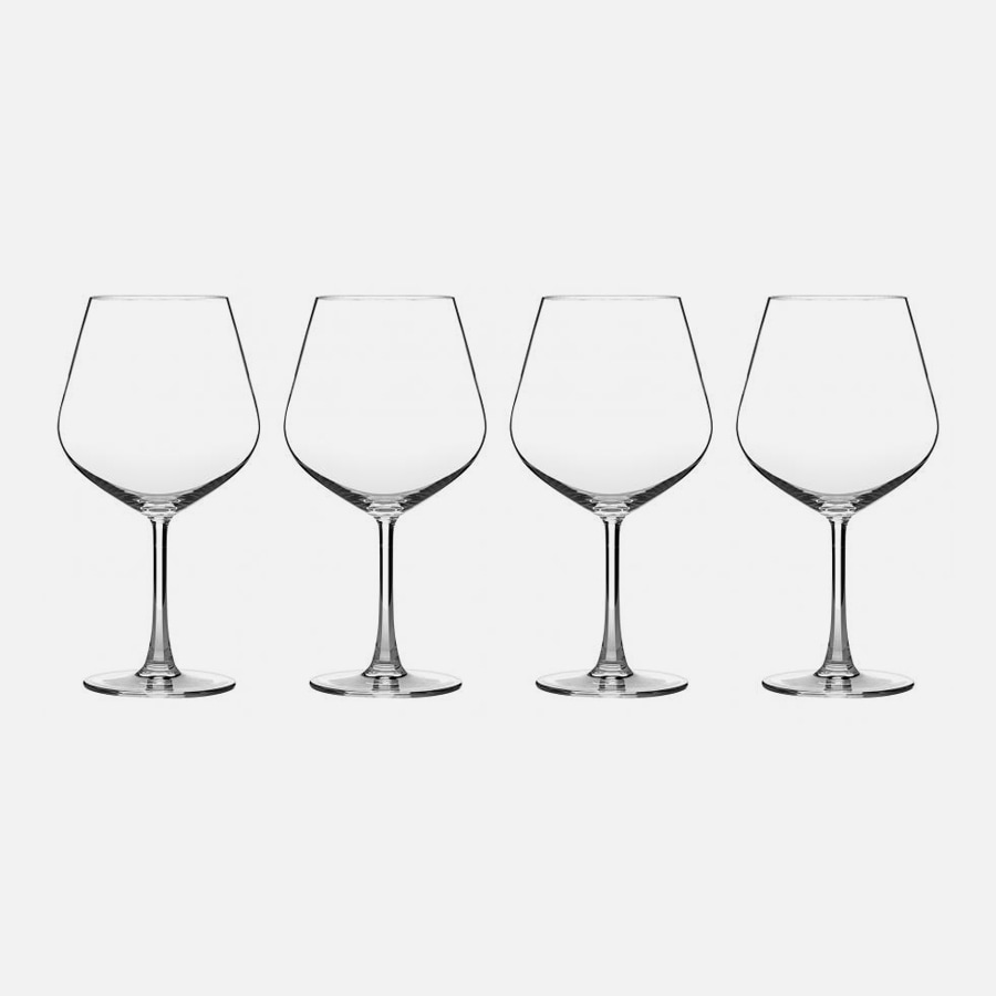 Classic Essentials Collection Burgundy Glasses (Set of 4)