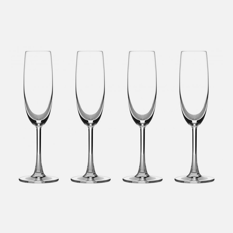 Classic Essentials Collection Champagne Glasses (Set of 4)