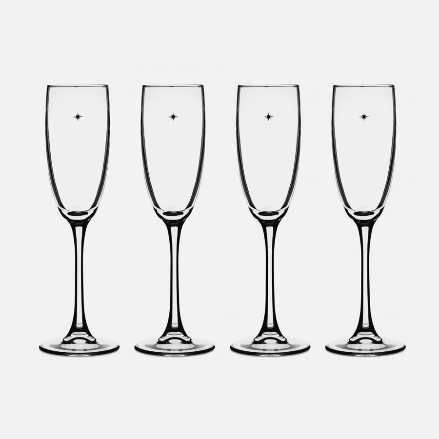 The Star's the Limit® Champagne Glasses (Set of 4)