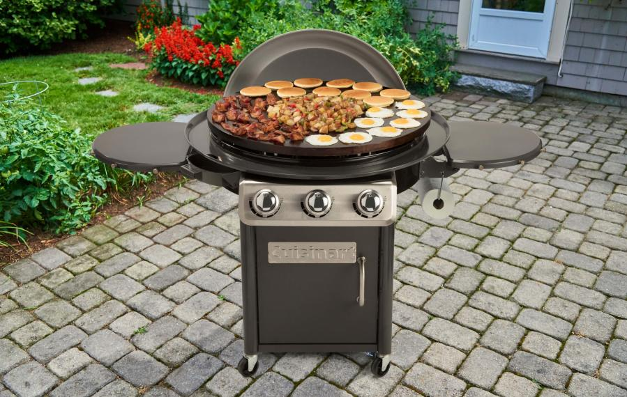 360 Xl Griddle Outdoor Cooking Station, Cuisinart Round Flat Top Grill