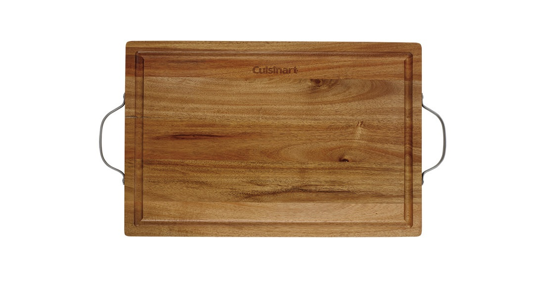"18"""" Acacia Carving Board with Handles"
