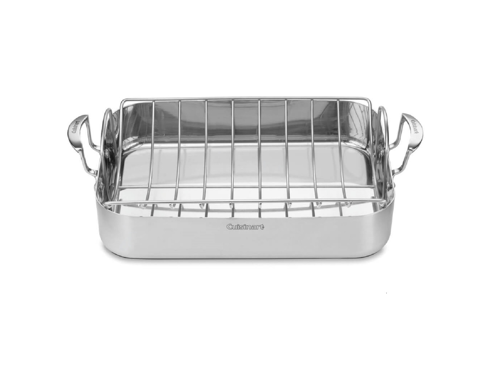 "MultiClad Pro Triple Ply Stainless Cookware 16"" Roasting Pan with Rack"