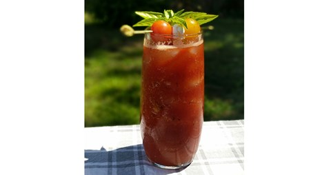 Smoked Caprese Virgin Bloody Mary