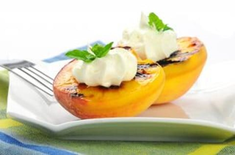 Honey-Roasted Peaches with Cream