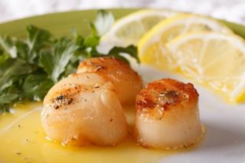 Scallops with Lemon Herb Butter