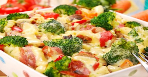 Baked Pasta with Broccoli and Peppers