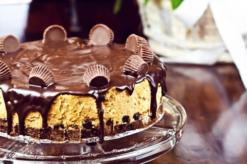 Chocolate Peanut Butter Pretzel Cheesecakes