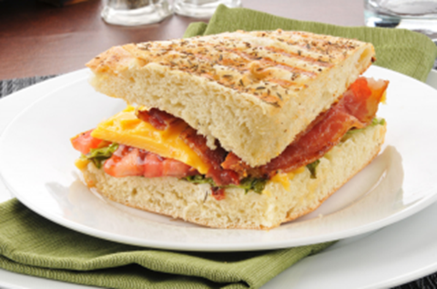 Grilled BLT with Cheddar