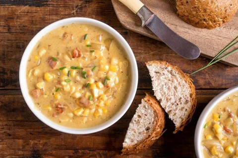 Corn and Green Chile Chowder