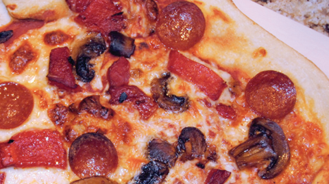 Spicy Pepperoni and Mushroom Pizza