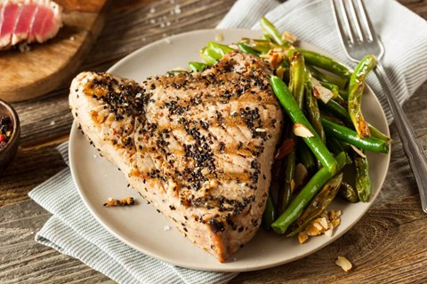 Grilled Tuna with Soy Dipping Sauce