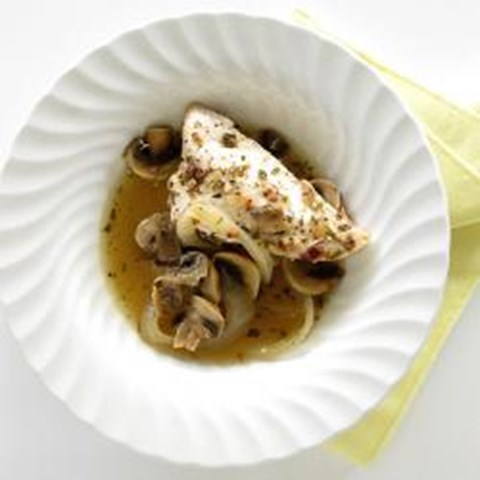 Sundried Tomato dressing Chicken Breast with onions and mushrooms