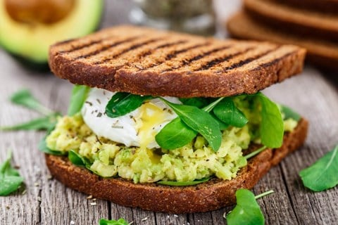 Soft-Boiled Eggs with Avocado Toast