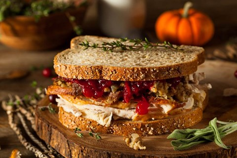 Thanksgiving Leftover Turkey Sandwich