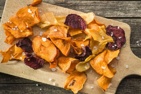 Root Veggie Chips with Rosemary & Sea Salt