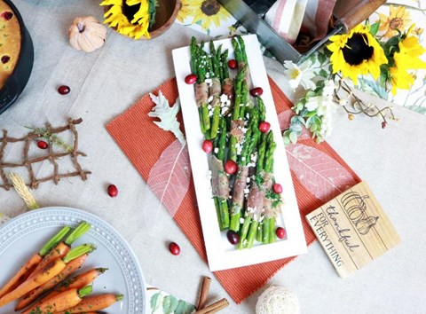 Prosciutto-Wrapped Asparagus with Feta