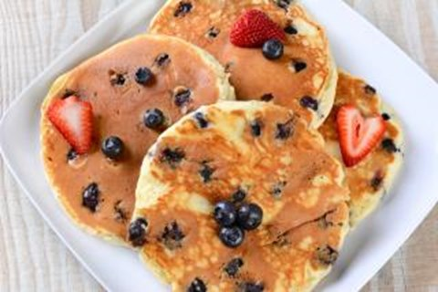 Blueberry Oat Buttermilk Pancakes