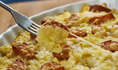 Sausage and Cheddar Breakfast Strata