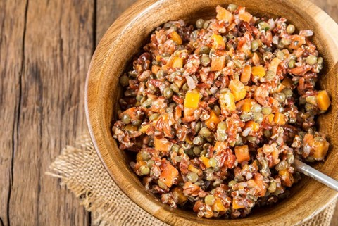 Healthy Quinoa with Garden Carrots