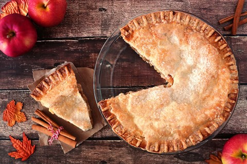 Deep Dish Pear and Apple Pie