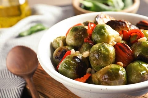 Lemony Brussels Sprouts & Carrots