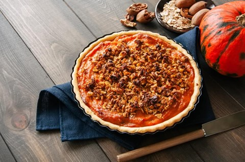 Pecan Glazed Pumpkin Pie