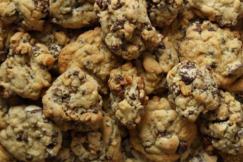 Peanut Butter Chip Cookies with Toasted Walnuts