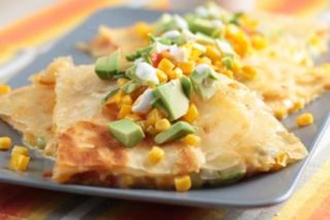 Three-Cheese and Avocado Quesadillas