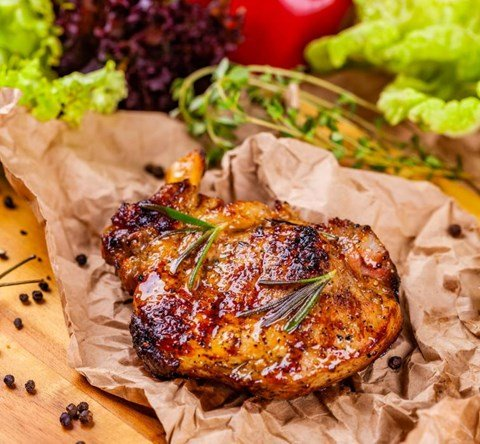 Herb Grilled Boneless Pork Chops
